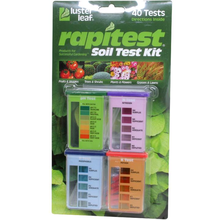 Rapitest garden soil test kit for Soil nutrient test kit